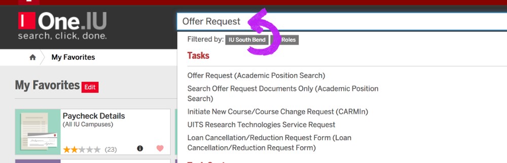 Offer Request Edoc Search